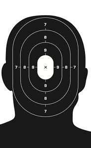 printable sniper head targets 150 pack quot 8 5x14 quot black oval head paper shooting targets