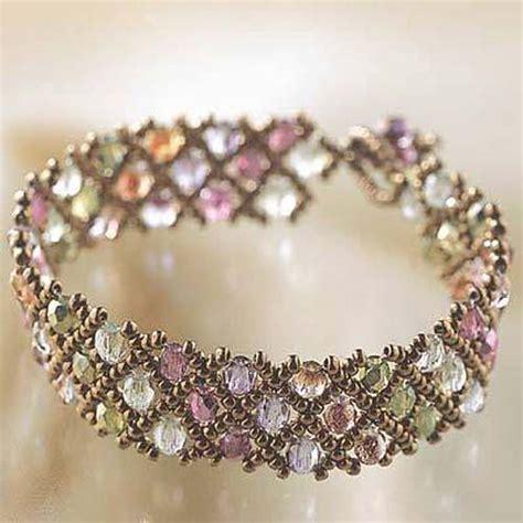 miyuki net pattern bracelet instructions diy miyuki glass bead bracelet kit woven net pattern ebay