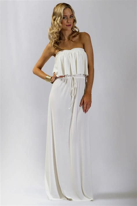 White Dress Pantai S casual white strapless maxi dress naf dresses with regard to casual strapless maxi dresses