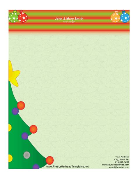 christmas letterhead templates free search results