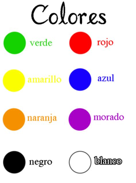 color in spanish spanish color names worksheet