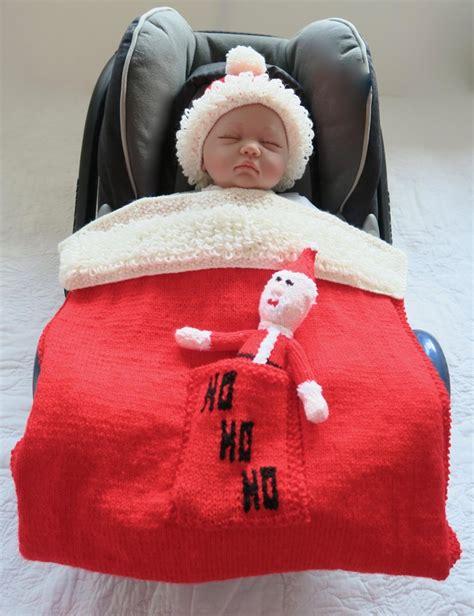 knitted car seat blanket pattern santa car seat blanket knitting pattern by