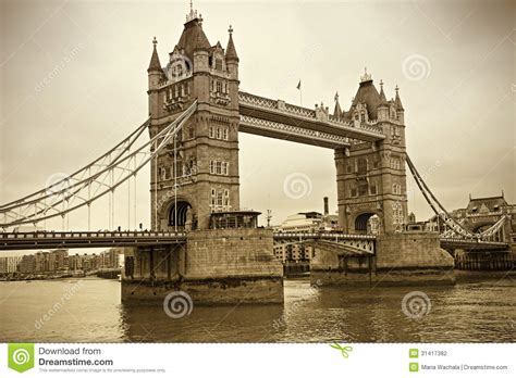 imagenes vintage londres opini 243 n del vintage del puente de la torre londres foto