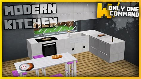 minecraft kitchen furniture modern kitchen command block 1 11 2 miinecraft org