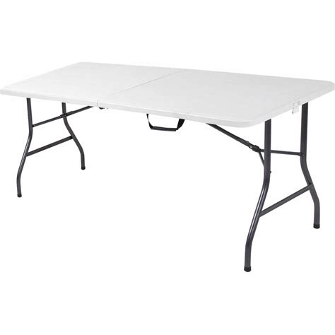 folding table 6 portable plastic centerfold folding table portable durable plastic