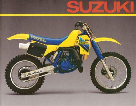 1986 Suzuki Rm 250 1986 Suzuki Rm 80 125 250 Brochure Floater Suzuki