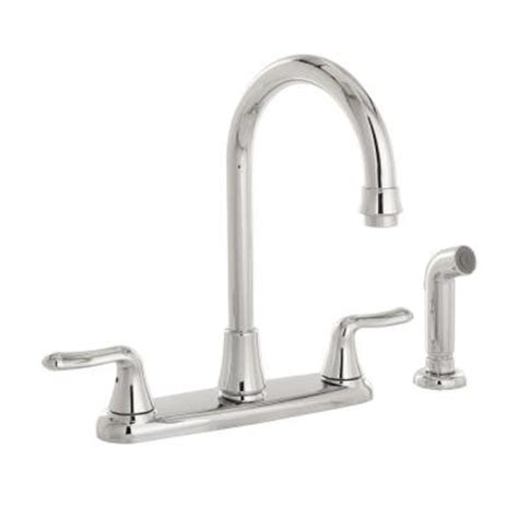 white high arc kitchen faucet home depot at stems cabinets american standard cadet 2 handle high arc kitchen faucet