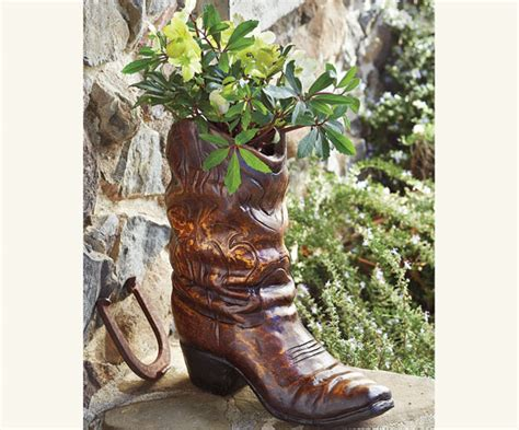 Cowboy Boot Planter Cr Boot Boot Planter