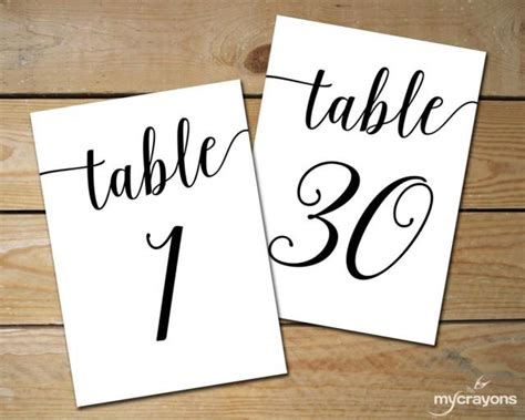place card templates for great papers 959040 instant printable table numbers 1 30 black