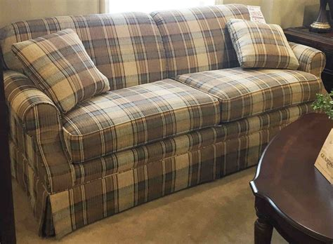 blue plaid sleeper sofa plaid sofas home the honoroak