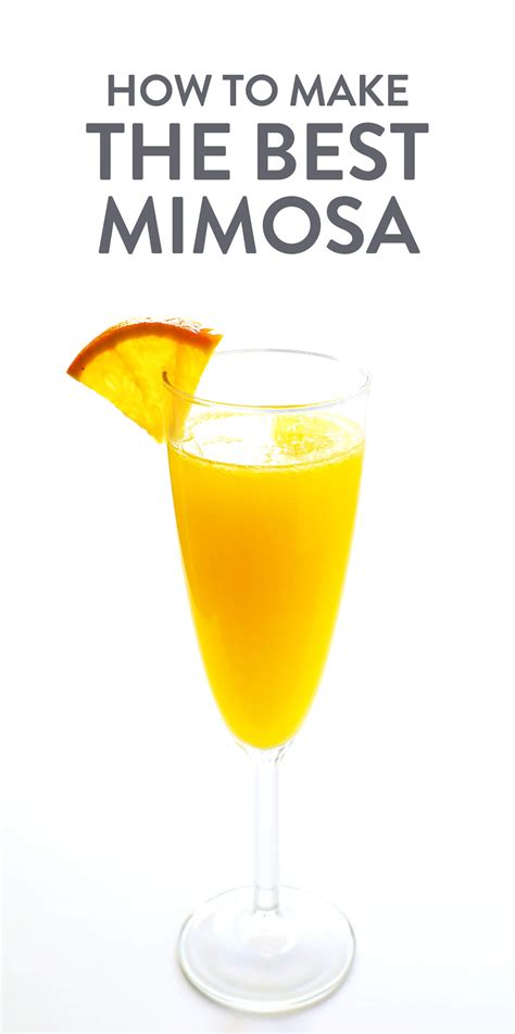 the best mimosa recipe thedirtygyro