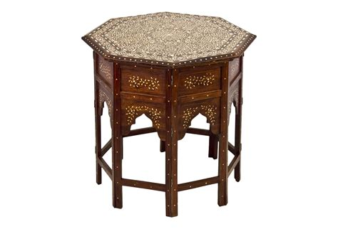bone inlay table bone inlay side table omero home