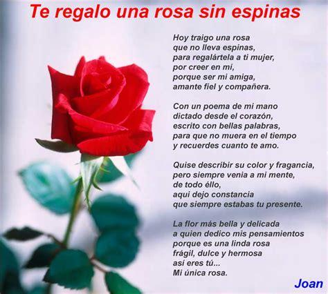 imagenes de rosas y corazones con poemas te regalo una rosa sin espinas poemas de amor