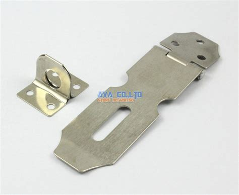 4 pieces cupboard toolbox metal safety padlock door hasp latch lock set 130mm in hasps from home