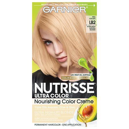 best drug store hair dye for lightening garnier nutrisse ultra color permanent haircolor lb2 ultra