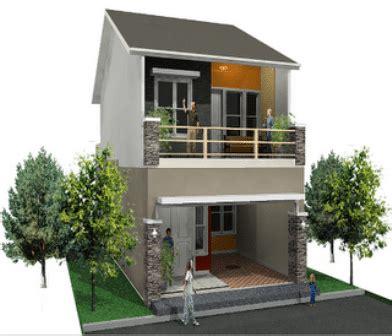 desain rumah minimalis type  dua lantai
