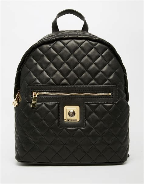 Quilted Backpacks For by Moschino Quilted Backpack In Black Lyst