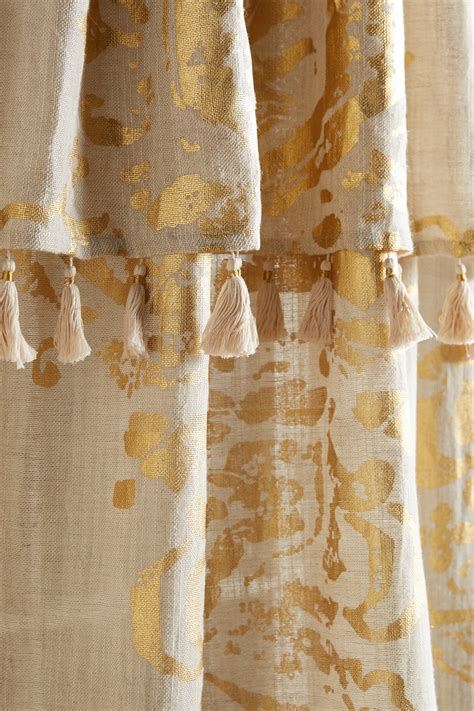 silver foil curtains gold foil curtain anthropologie