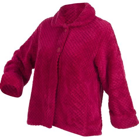 womens bed jacket womens luxury waffle fleece bed jacket slenderella button