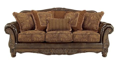 fresco durablend antique sofa leather and fabric sofa