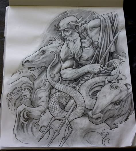 poseidon tattoo design best 25 poseidon ideas on poseidon