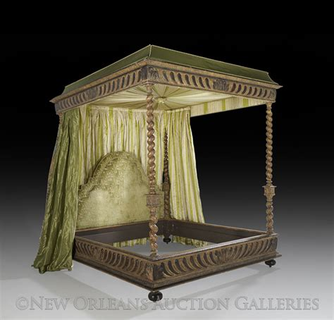 italian canopy bed italian style polychrome canopy king size bed