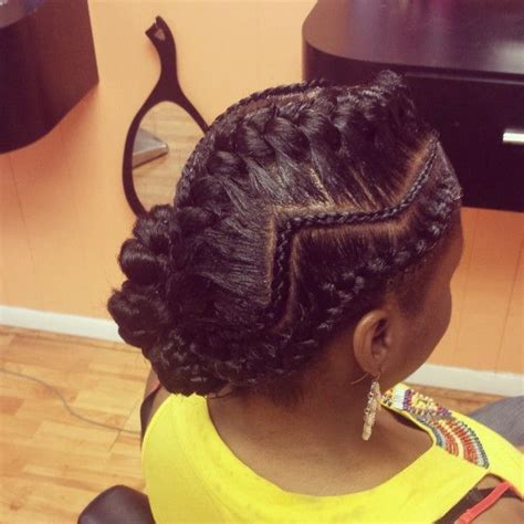 how to do goddess braids on a person with very thin hair zig zag cornrows with goddess braid goddess braids