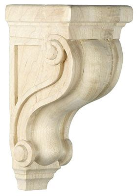 wooden scrolls for cabinets scroll design corbel in 5 sizes with choice of wood