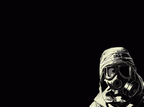 black and white wallpaper online gas mask wallpaper and background 1280x960 id 50129