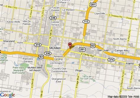 map of pharr texas map of comfort inn pharr pharr