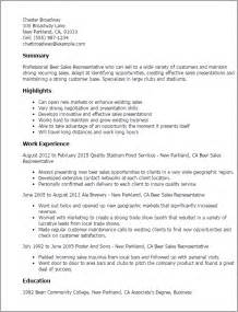 Sales Representative Sle Resume by Professional Sales Representative Templates To Showcase Your Talent Myperfectresume