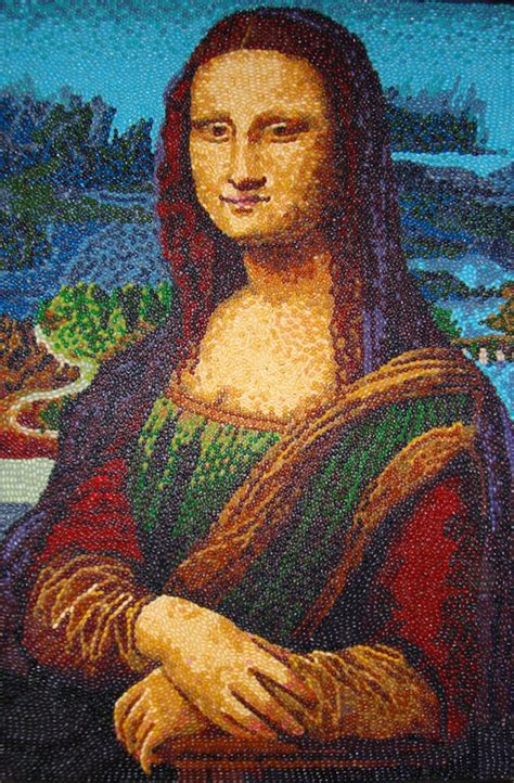 the most famous paintings famous art recreated using jelly beans senses lost
