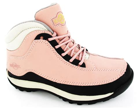 womens steel toe cap hiking safety work pink