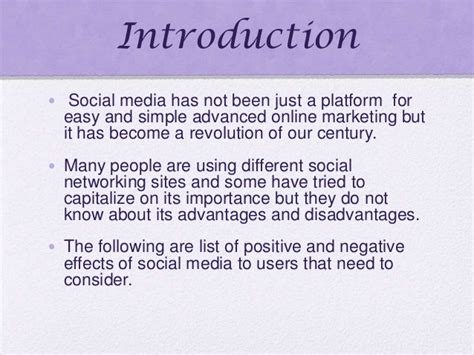 introduction of thesis about social media informative speech powerpoint 7 29