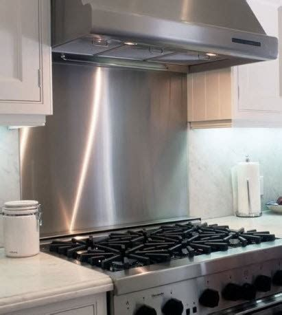 metal backsplashes for kitchens stainless steel backsplash frigo design