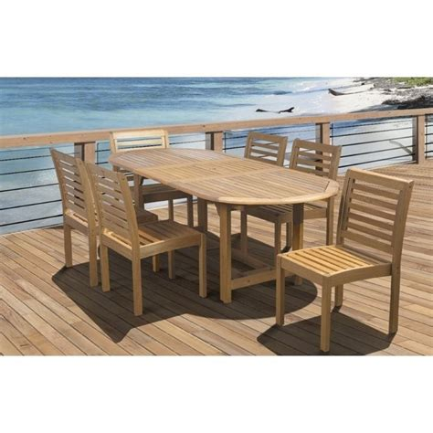international home eucalyptus 7 wood patio dining