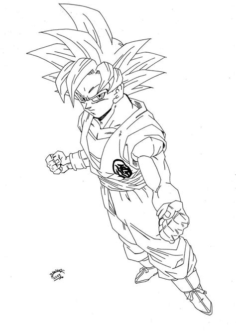 dragon ball z battle of gods 2 coloring pages dragonball z super sayan god lineart by triigun on