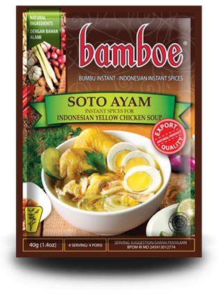 Bumbu Bamboe Soto Ayam bamboe soto ayam 40g tjin s toko
