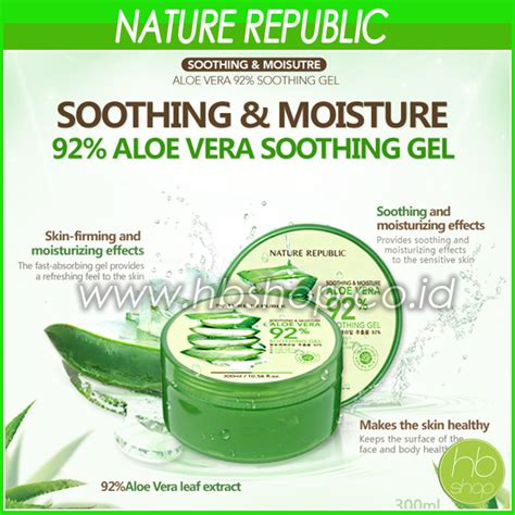 Masker Wajah Dengan Aloe Vera Nature Republic nature republic aloe vera soothing gel