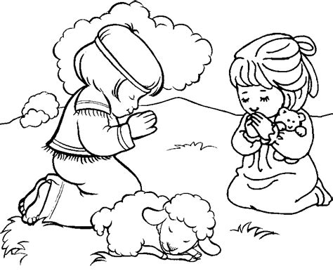coloring page of boy and girl praying boy and girl coloring pages coloring home