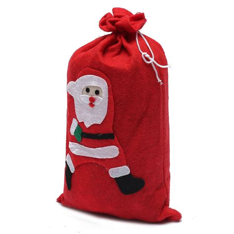 red large santa claus gift sack bag christmas costume