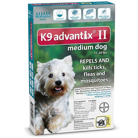 advantix 2 for dogs 6 month k9 advantix ii teal medium for dogs 11 20 lbs