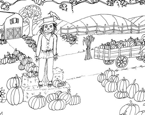 Pumpkin Patch Coloring Page Printable The Graphics Fairy | pumpkin patch coloring page printable the graphics fairy