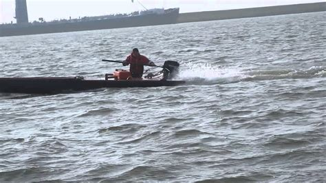 catamaran with engine catamaran with 8hp mercury outboard engine youtube