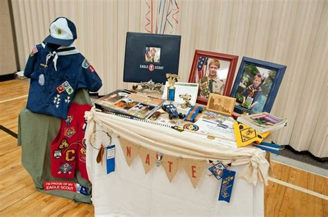eagle court of honor display table boy scouts scouts