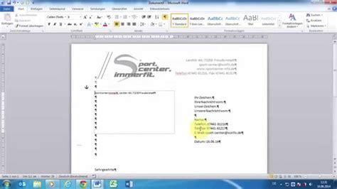 word 2010 gesch 228 ftliche din briefe 5008 erstellen teil 6 vorlage nutzen bearbeiten