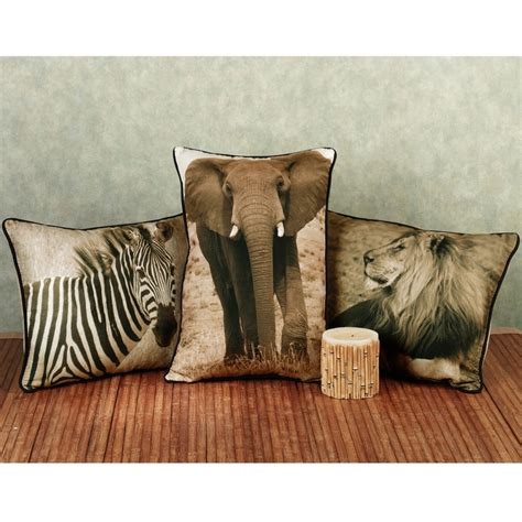 Safari Decorative Pillows by Safari Pillows Safari Decor