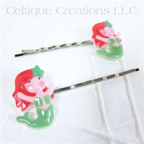 Handmade Hair Barrettes - mermaid bobby pins handmade hair accessories