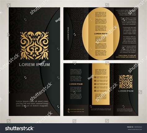 design art brochure vintage style brochure template design with modern art