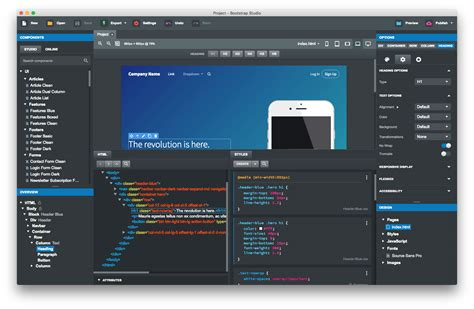 design application tool bootstrap studio